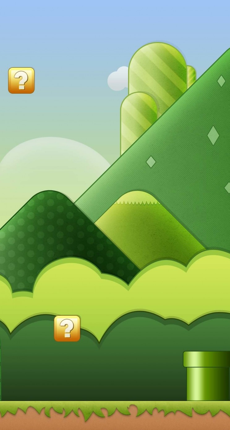 Super Mario Bros World Wallpaper for Apple iPhone 5 / 5s