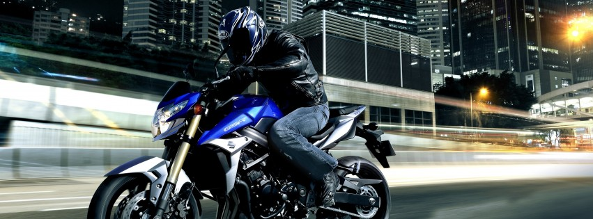 Suzuki GSX-R750 Wallpaper for Social Media Facebook Cover