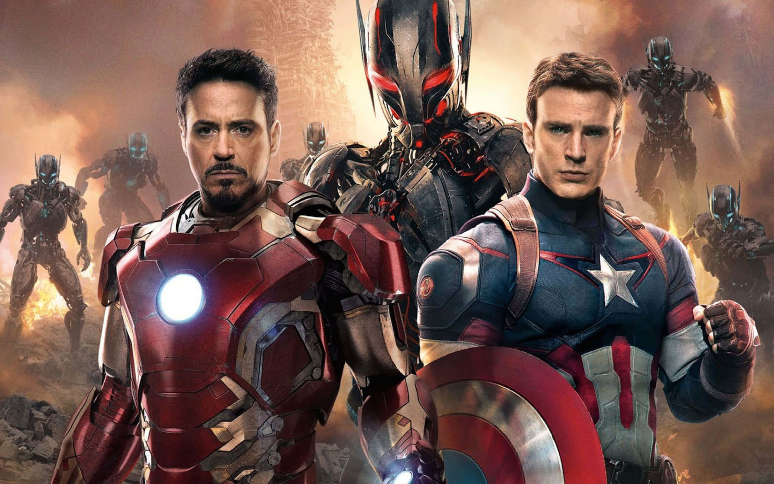 The Avengers: Age of Ultron - Iron Man and Captain America Wallpaper for Desktop 2560x1600