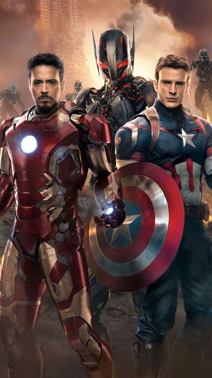 The Avengers: Age of Ultron - Iron Man and Captain America Wallpaper for SAMSUNG Galaxy S5 Mini