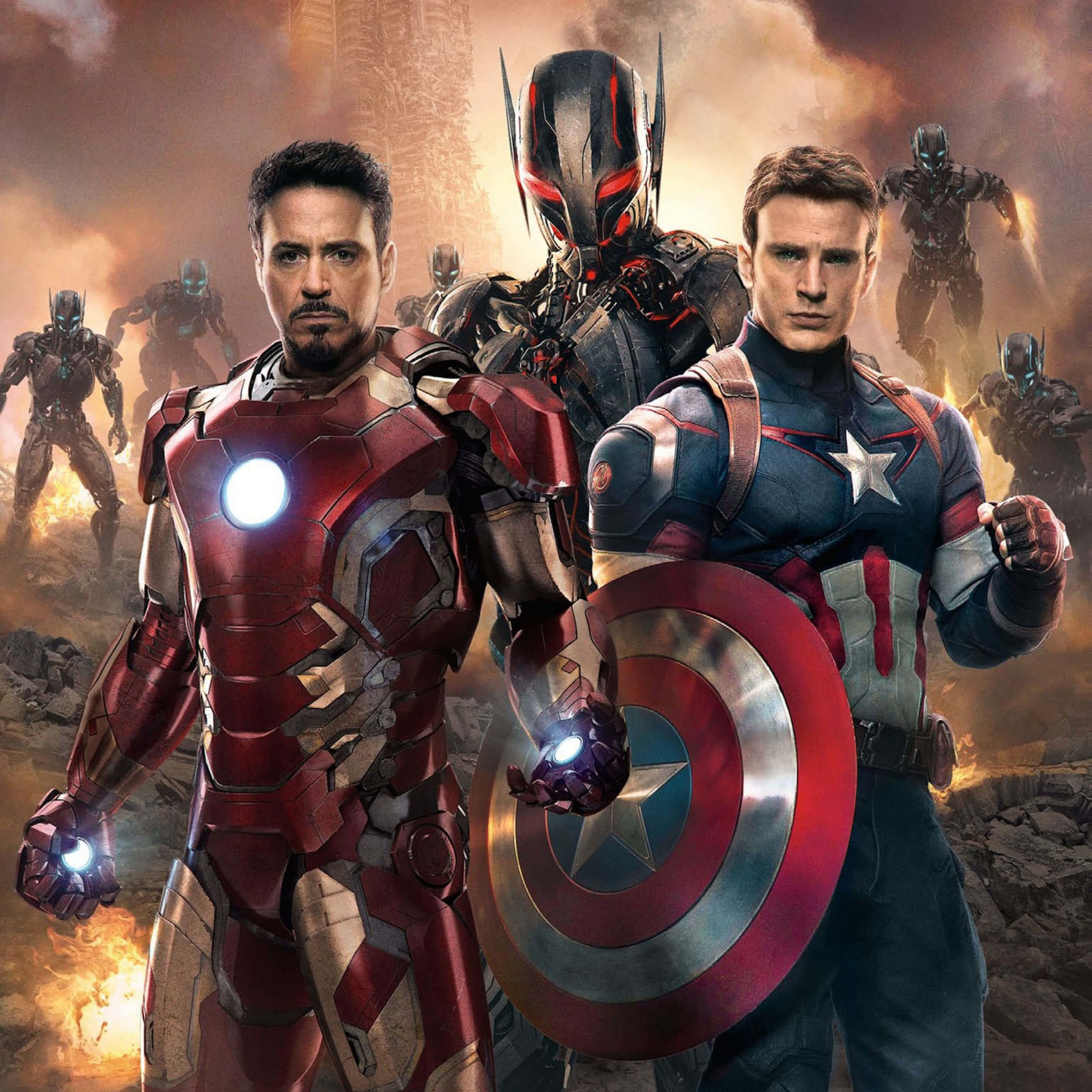 The Avengers: Age of Ultron - Iron Man and Captain America Wallpaper for Apple iPad 4