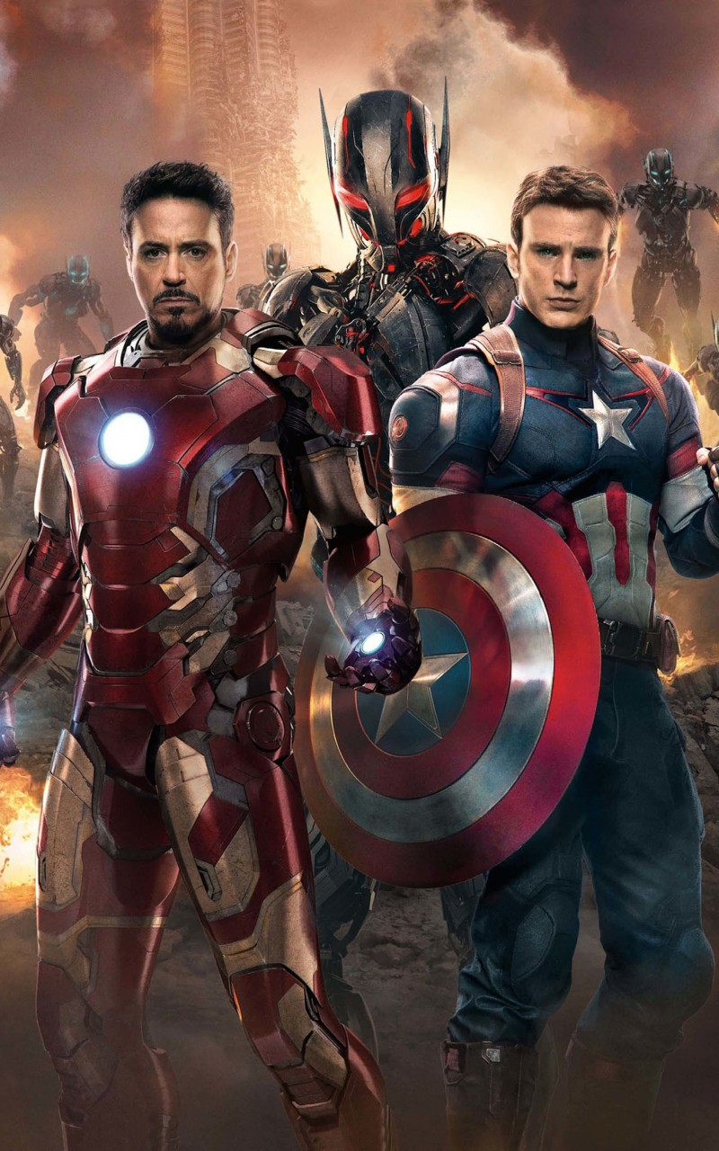 The Avengers: Age of Ultron - Iron Man and Captain America Wallpaper for Amazon Kindle Fire HD