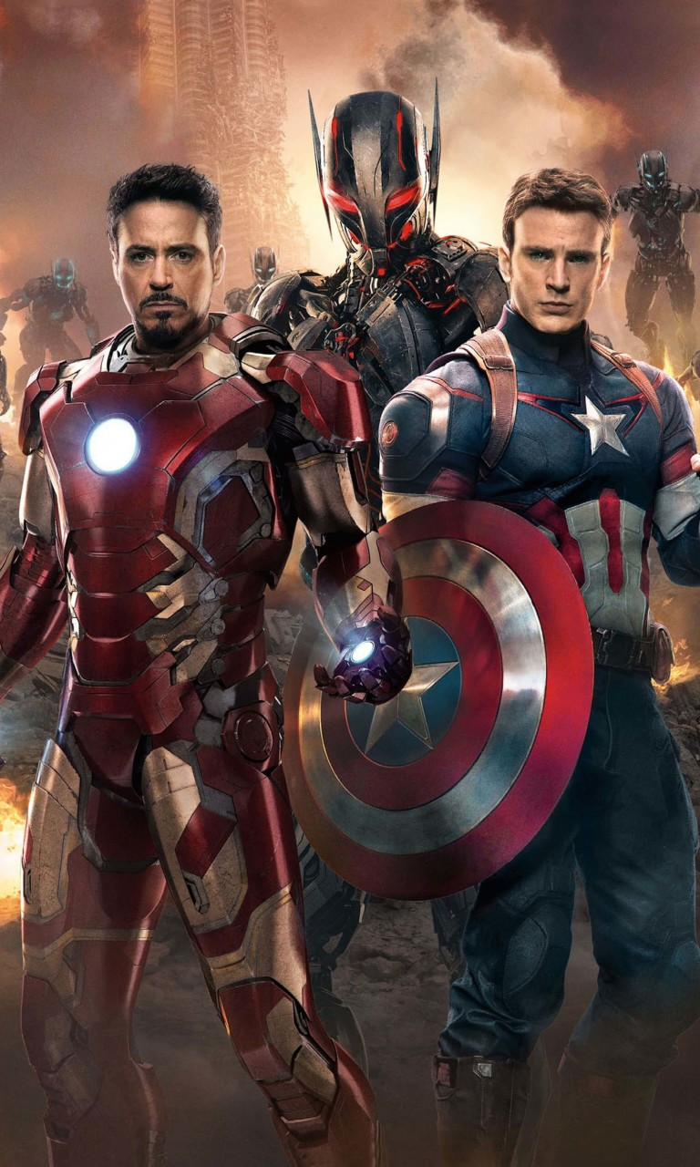 The Avengers: Age of Ultron - Iron Man and Captain America Wallpaper for Google Nexus 4