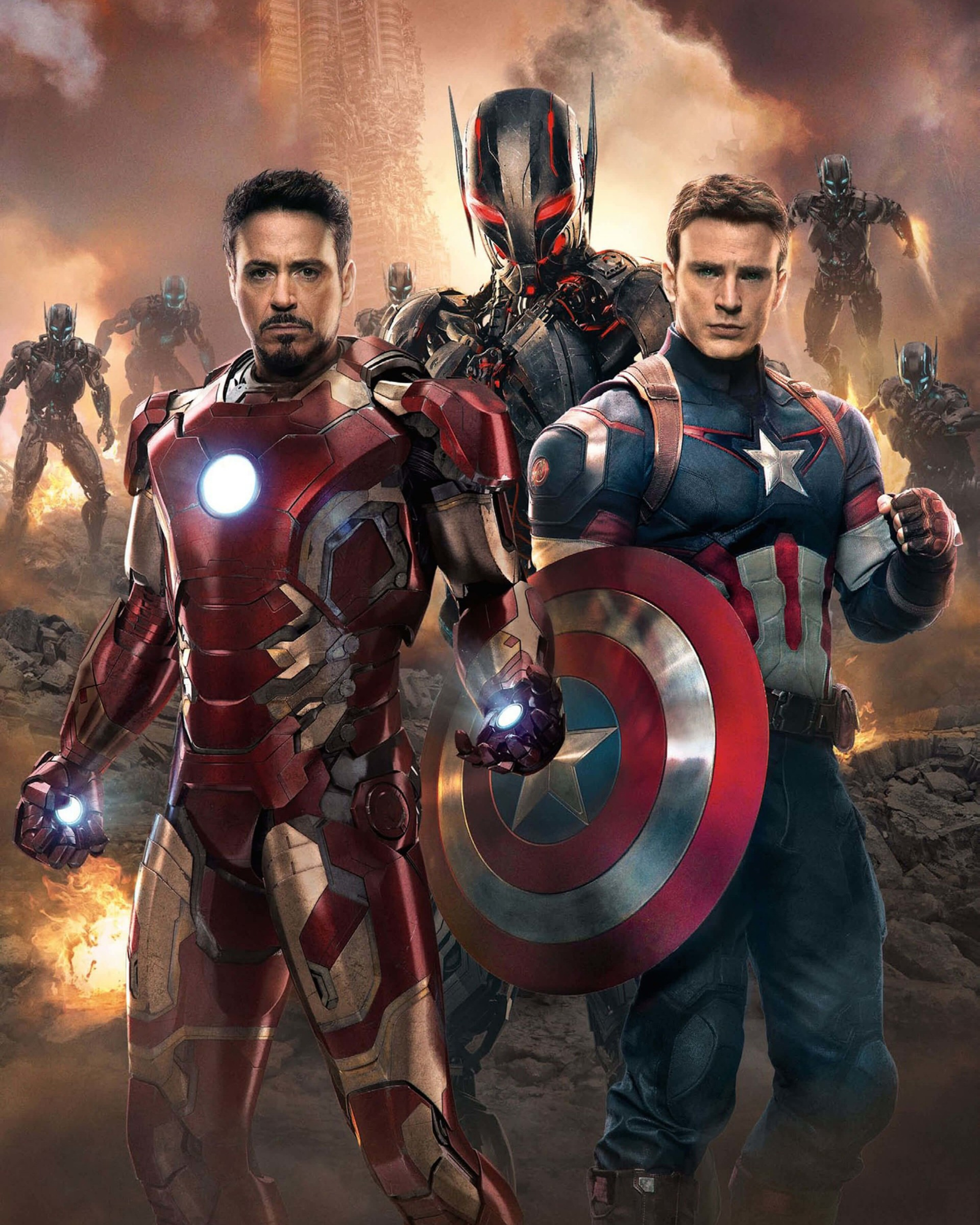 The Avengers: Age of Ultron - Iron Man and Captain America Wallpaper for Google Nexus 7