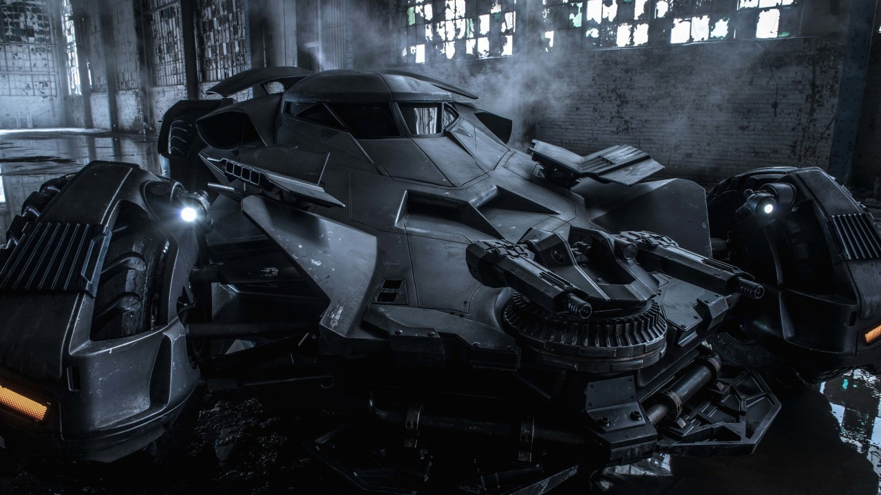 The Batman v Superman Batmobile Wallpaper for Desktop 1280x720