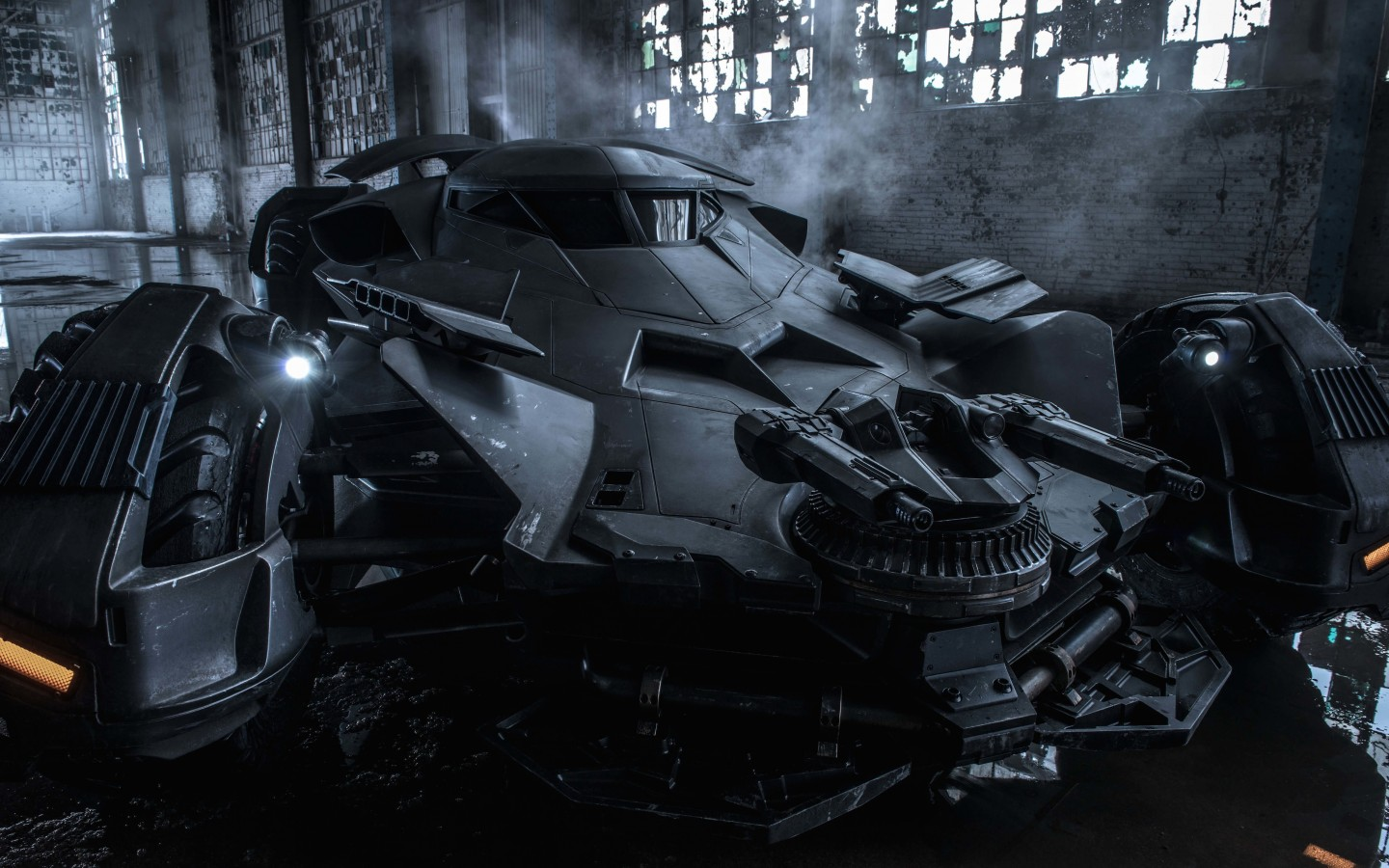 The Batman v Superman Batmobile Wallpaper for Desktop 1440x900
