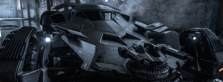 The Batman v Superman Batmobile Wallpaper for Social Media Facebook Cover