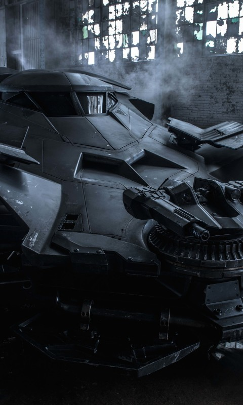 The Batman v Superman Batmobile Wallpaper for SAMSUNG Galaxy S3 Mini
