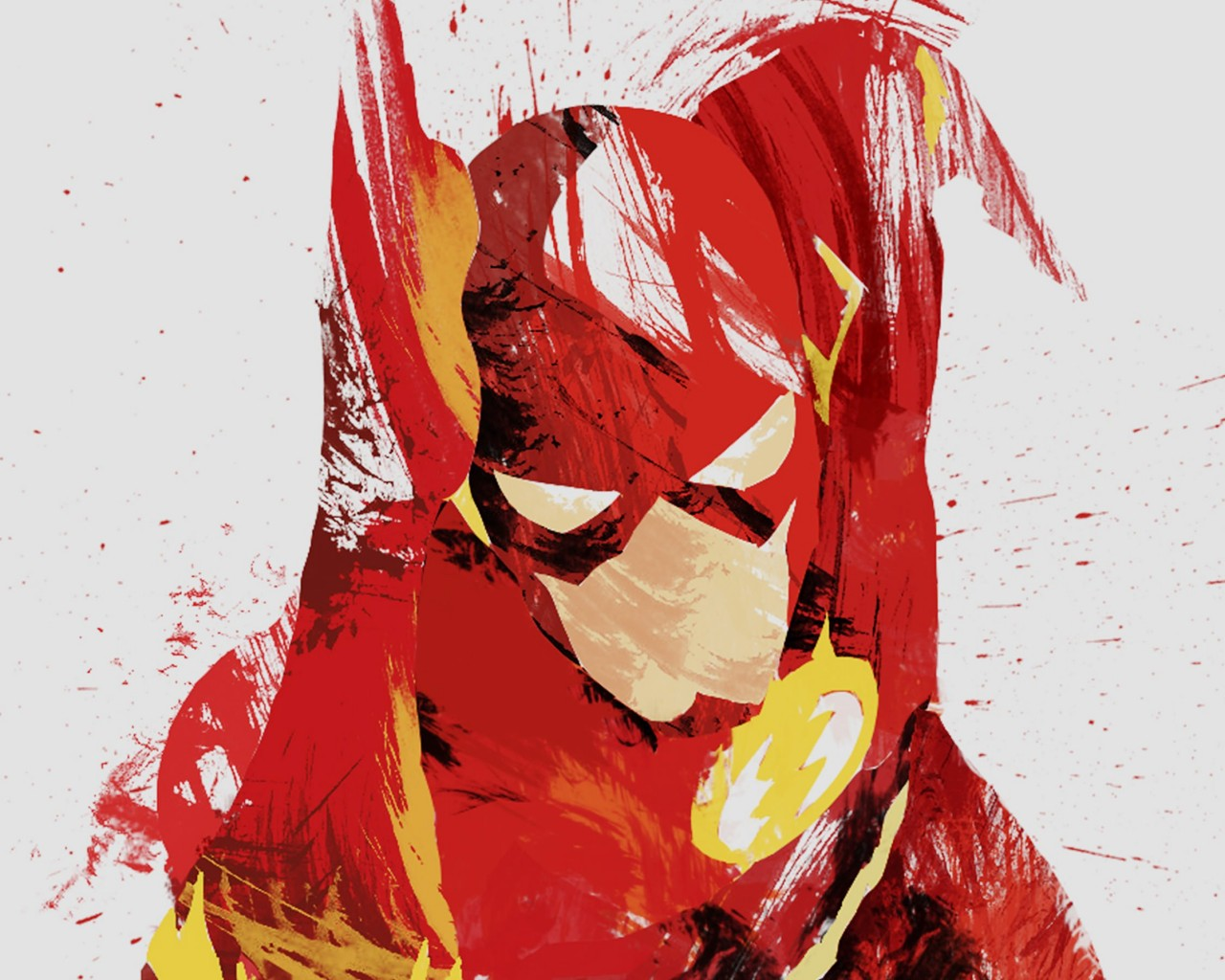 The Flash Illustration Wallpaper for Desktop 1280x1024