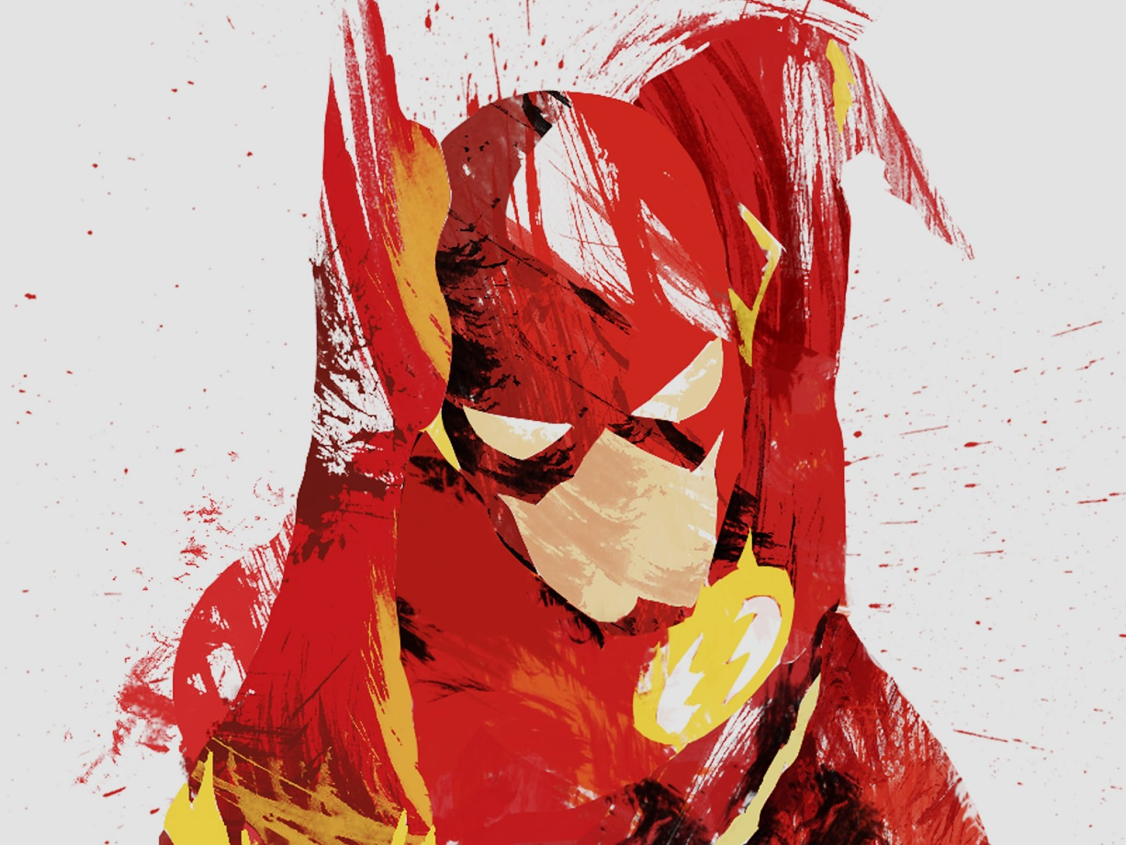 The Flash Illustration Wallpaper for Desktop 1600x1200