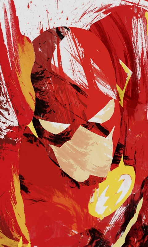 The Flash Illustration Wallpaper for SAMSUNG Galaxy S3 Mini