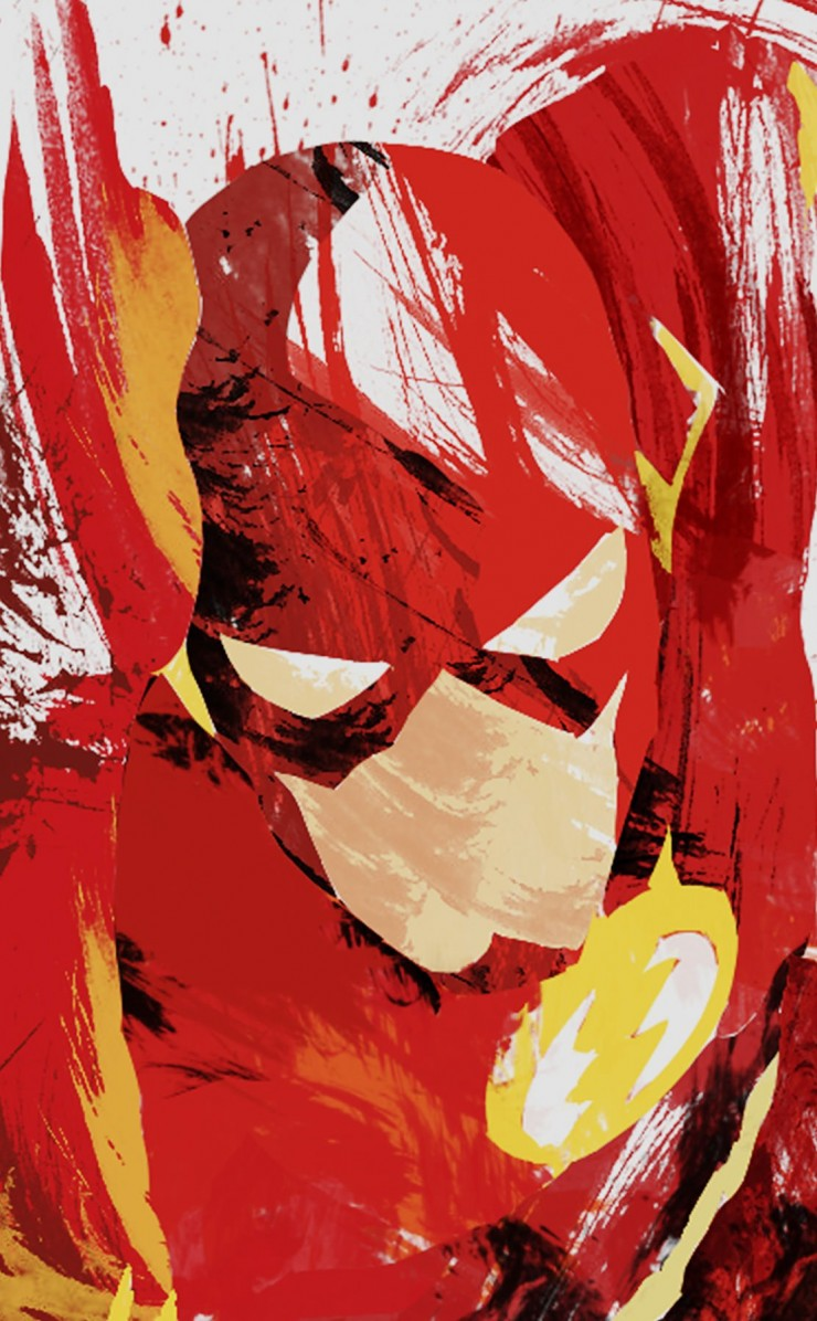 The Flash Illustration Wallpaper for Apple iPhone 4 / 4s