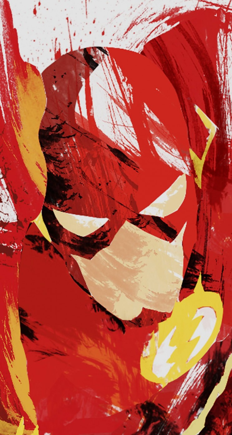 The Flash Illustration Wallpaper for Apple iPhone 5 / 5s