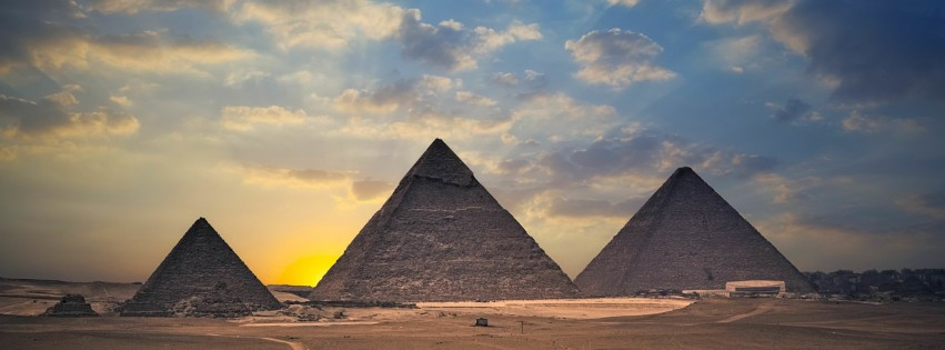 The Great Pyramids of Giza Wallpaper for Social Media Facebook Cover