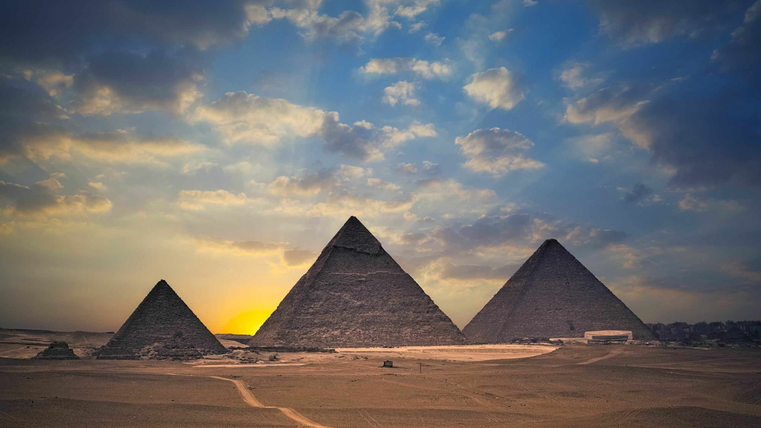 The Great Pyramids of Giza Wallpaper for Social Media YouTube Channel Art
