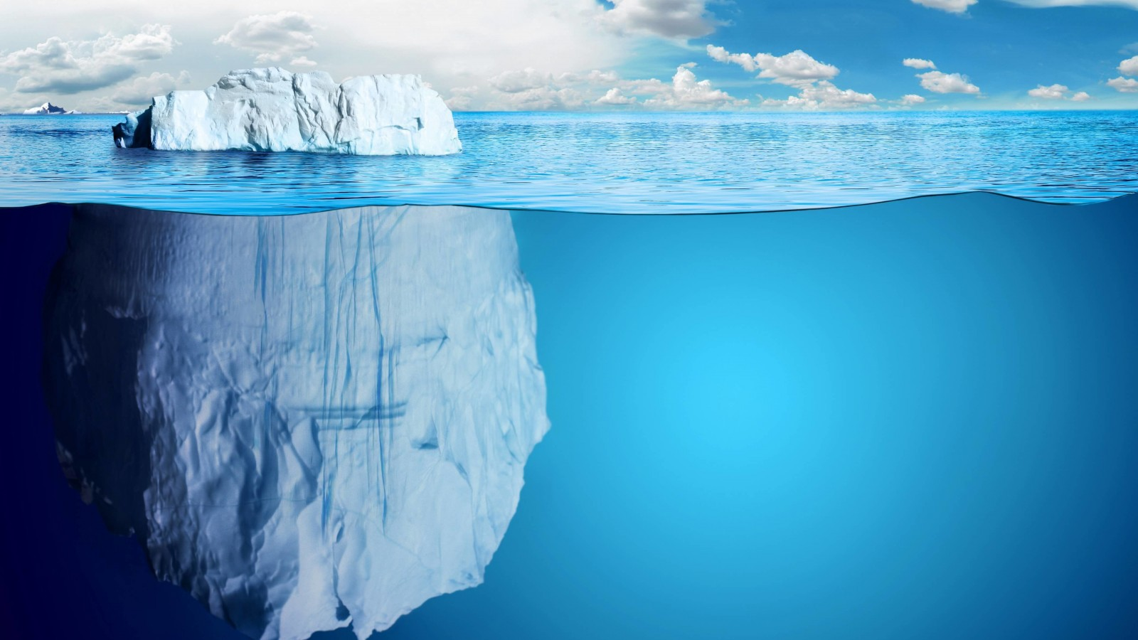 The invisible part of the iceberg Wallpaper for Desktop 1600x900