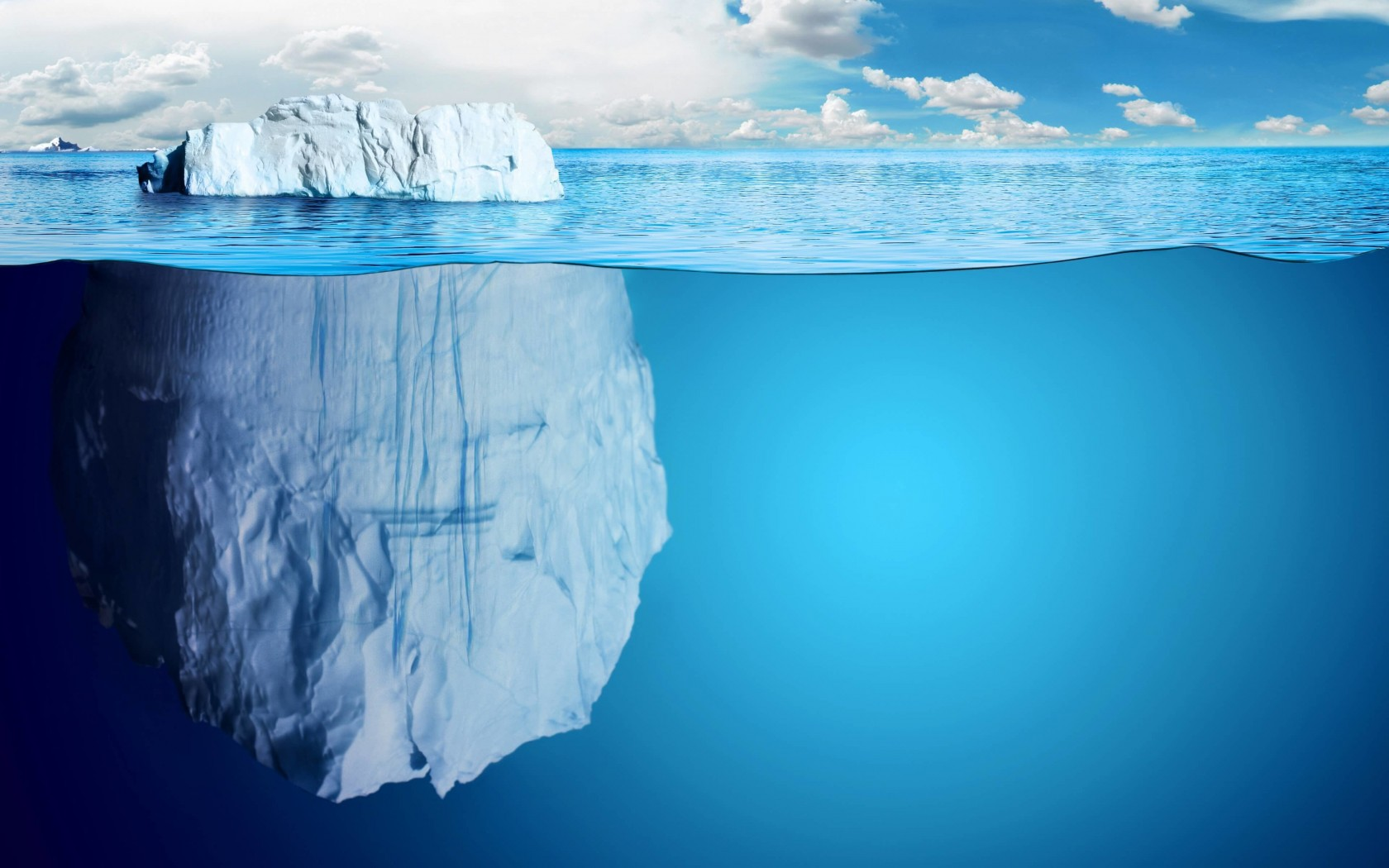 The invisible part of the iceberg Wallpaper for Desktop 1680x1050
