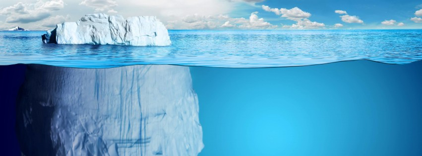 The invisible part of the iceberg Wallpaper for Social Media Facebook Cover