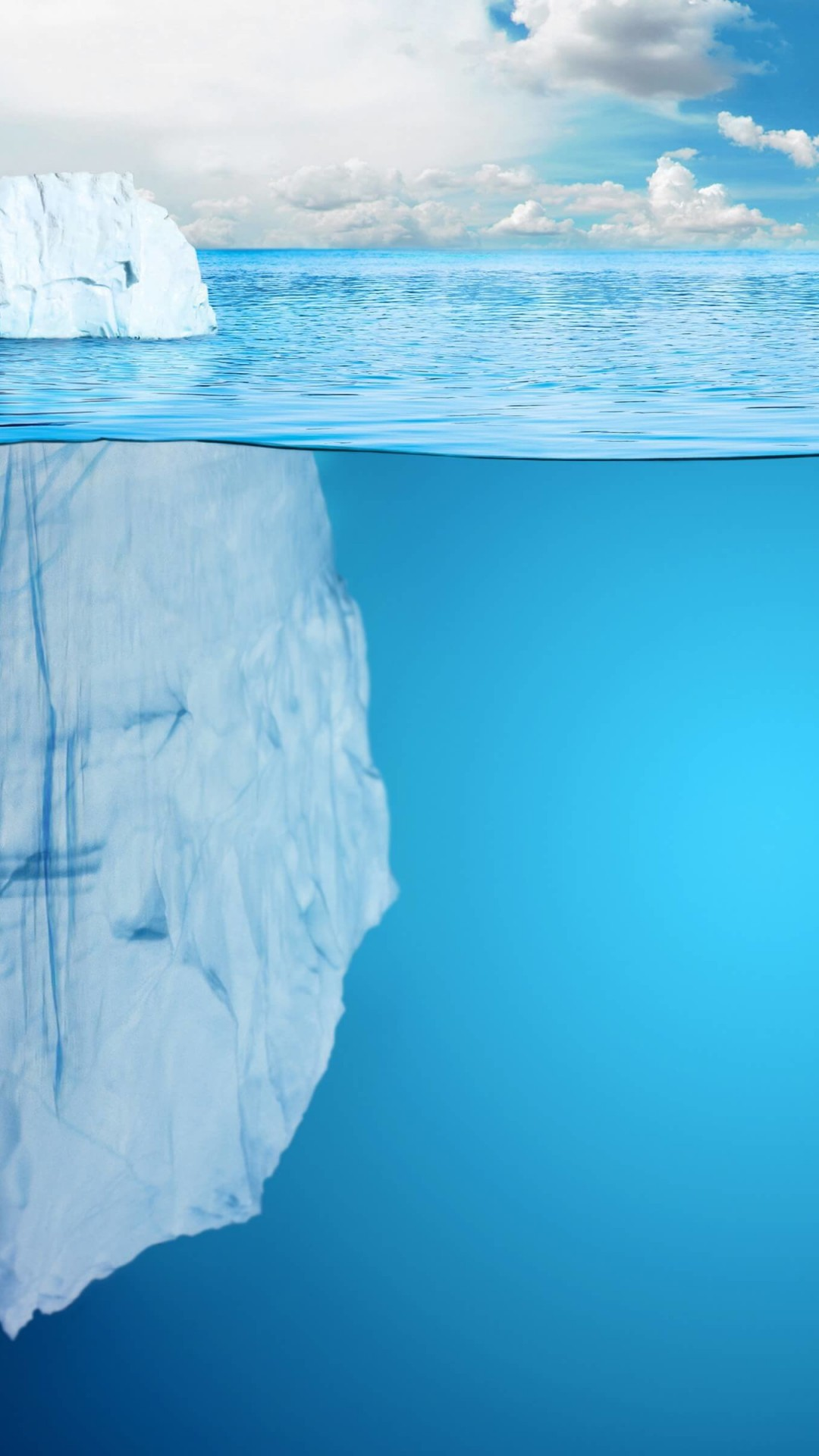 The invisible part of the iceberg Wallpaper for SAMSUNG Galaxy S4