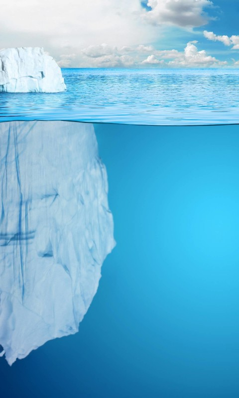 The invisible part of the iceberg Wallpaper for HTC Desire HD