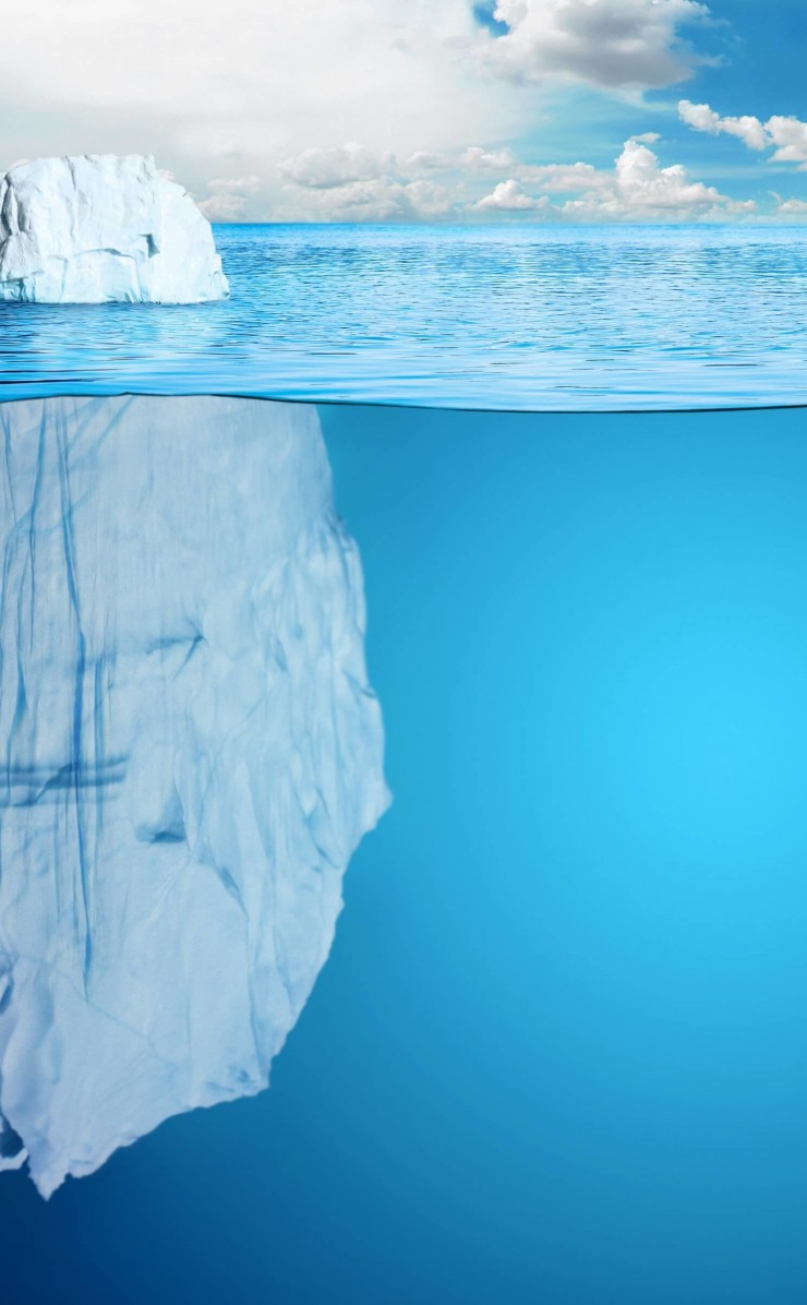 The invisible part of the iceberg Wallpaper for Apple iPhone 4 / 4s