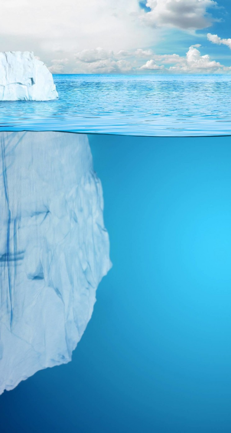 The invisible part of the iceberg Wallpaper for Apple iPhone 5 / 5s