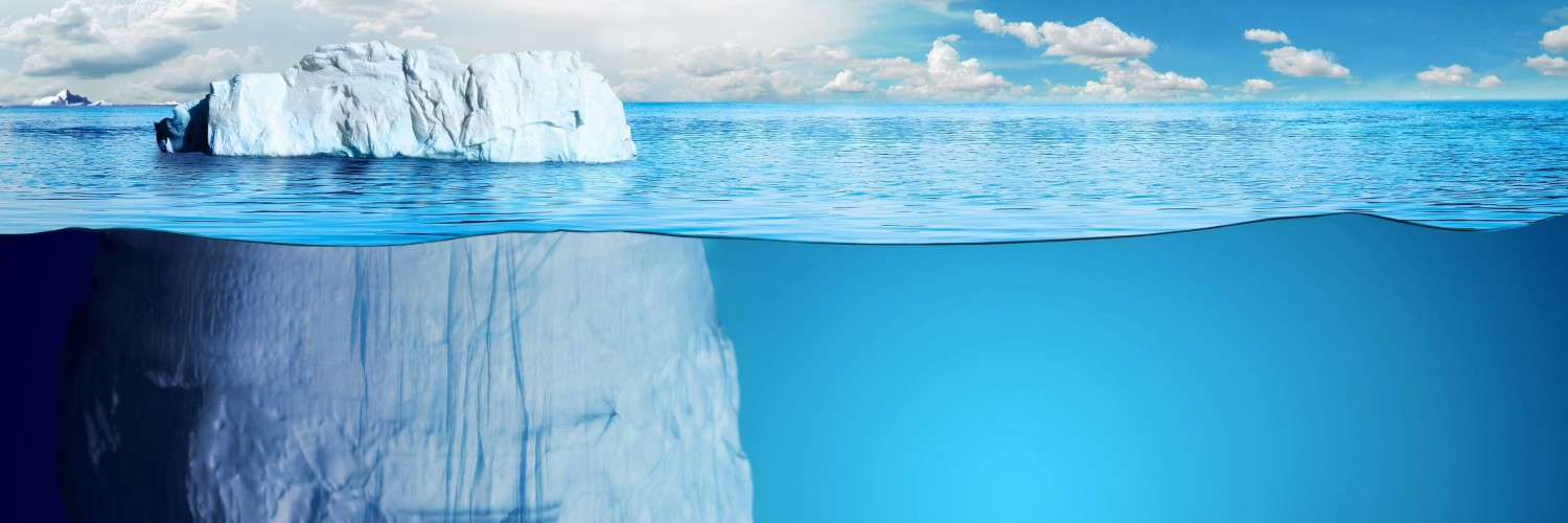 The invisible part of the iceberg Wallpaper for Social Media Twitter Header