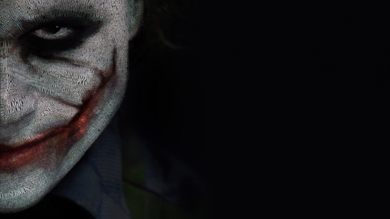 The Joker Typeface Portrait Wallpaper for Desktop 1366x768