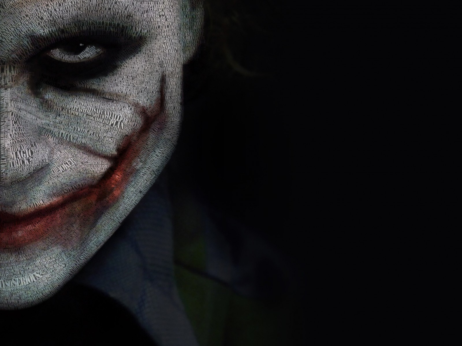 The Joker Typeface Portrait Wallpaper for Desktop 1600x1200