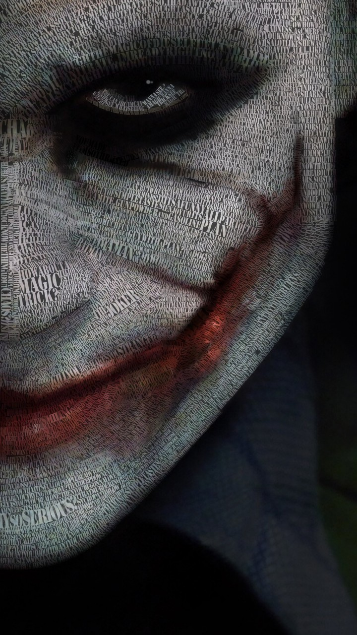 The Joker Typeface Portrait Wallpaper for SAMSUNG Galaxy Note 2