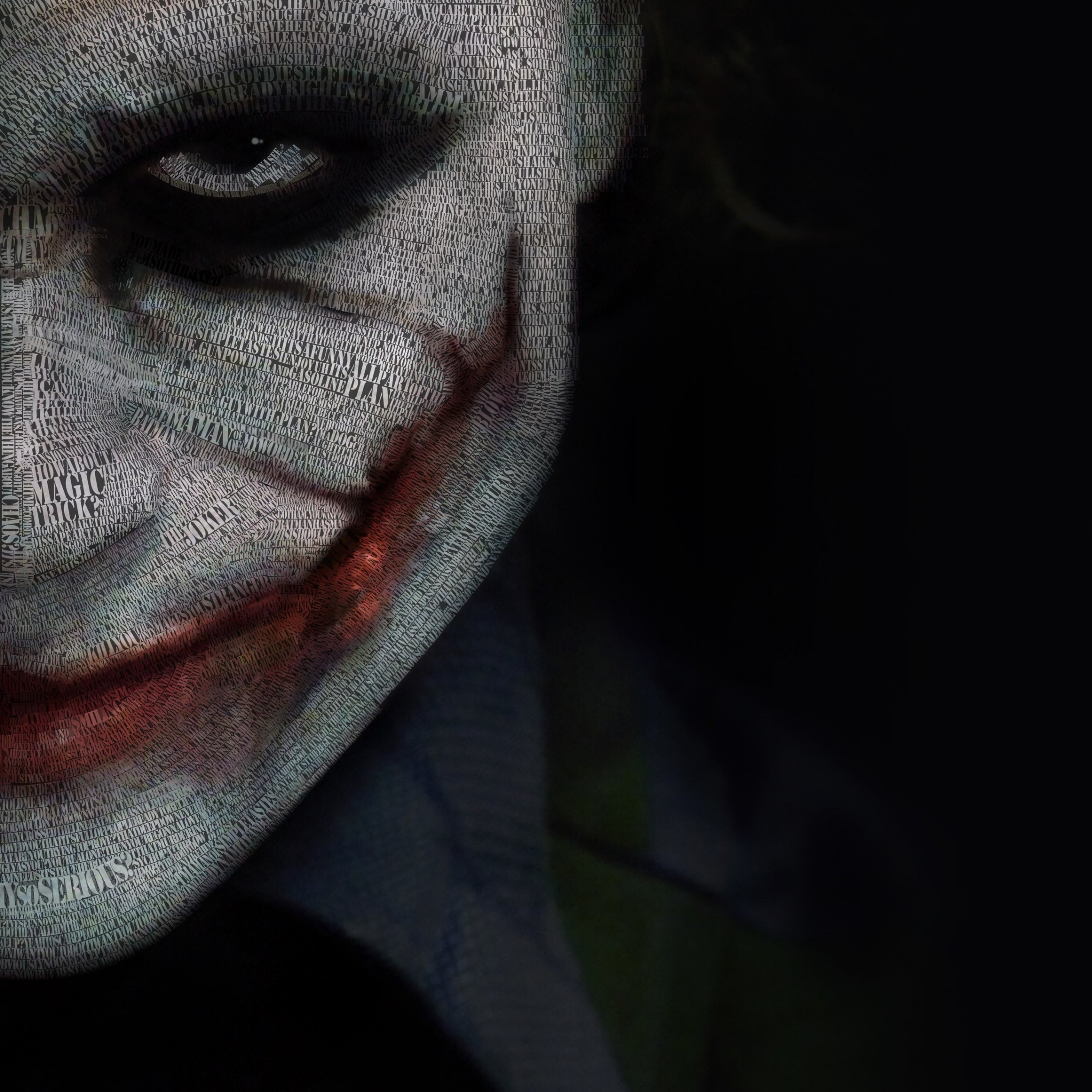 The Joker Typeface Portrait Wallpaper for Apple iPad 3