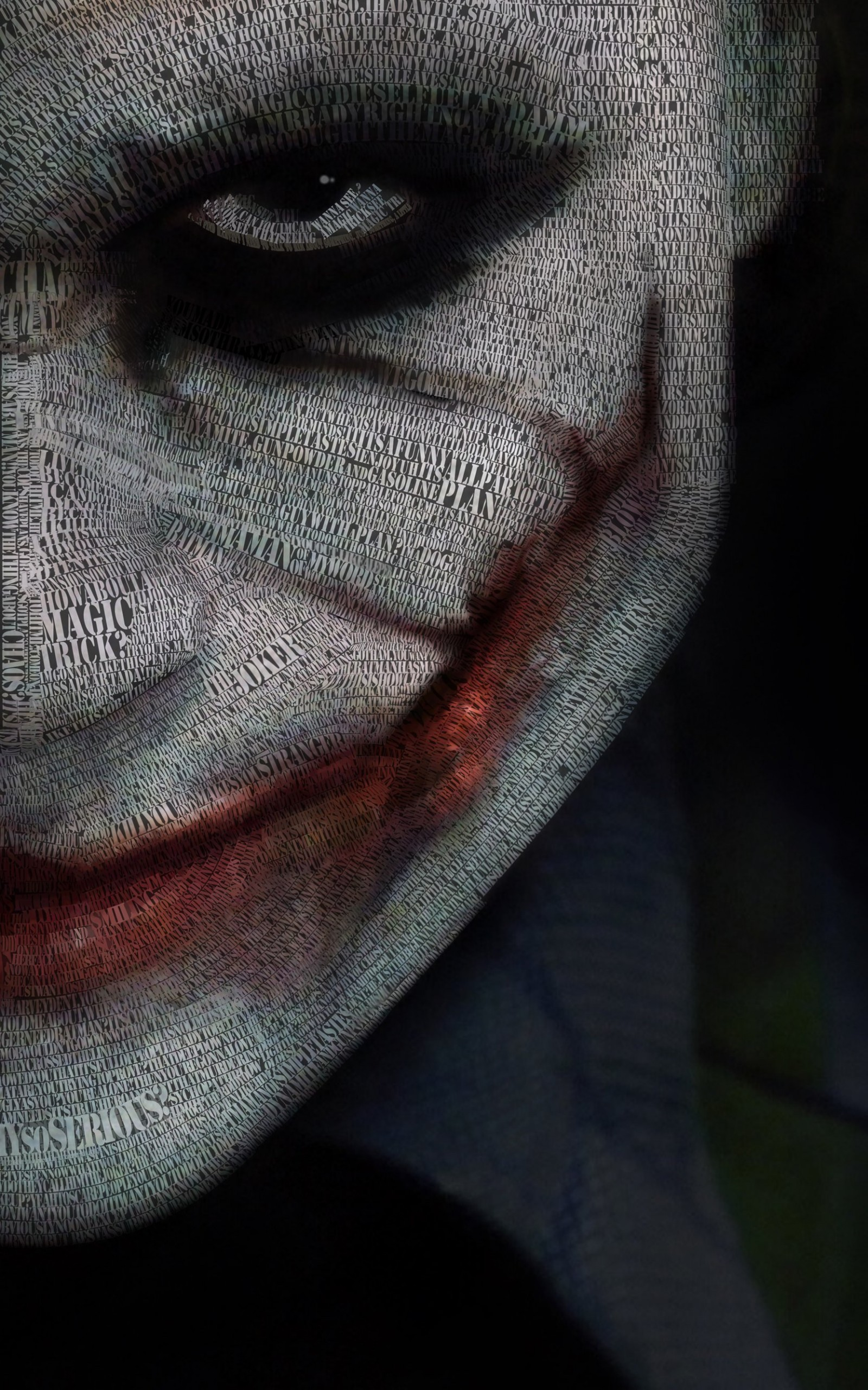 The Joker Typeface Portrait Wallpaper for Amazon Kindle Fire HDX 8.9