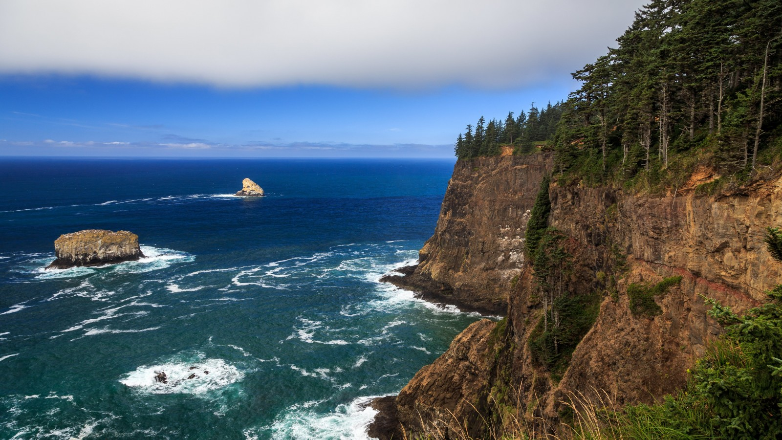 The Left Edge, Cape Lookout, Oregon Wallpaper for Desktop 1600x900