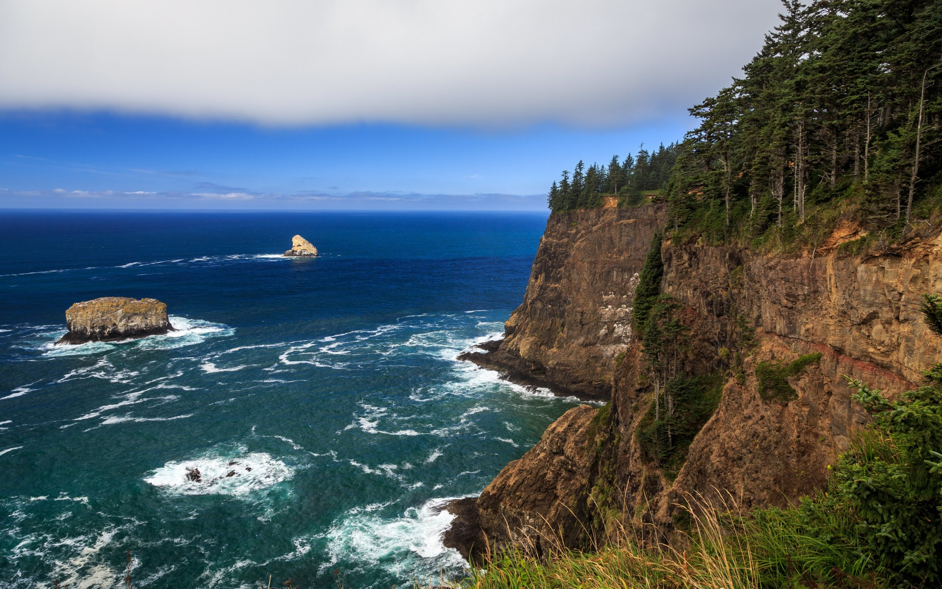 The Left Edge, Cape Lookout, Oregon Wallpaper for Desktop 1920x1200