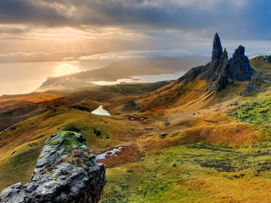 The Old Man of Storr, Isle of Skye, Scotland Wallpaper for Desktop 1024x768