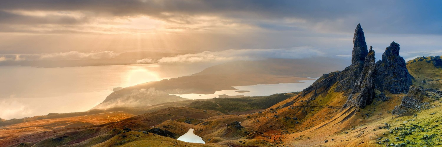 The Old Man of Storr, Isle of Skye, Scotland Wallpaper for Social Media Twitter Header