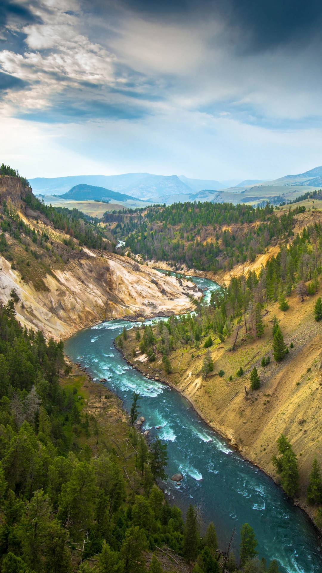 The River, Grand Canyon of Yellowstone National Park, USA Wallpaper for SAMSUNG Galaxy S4