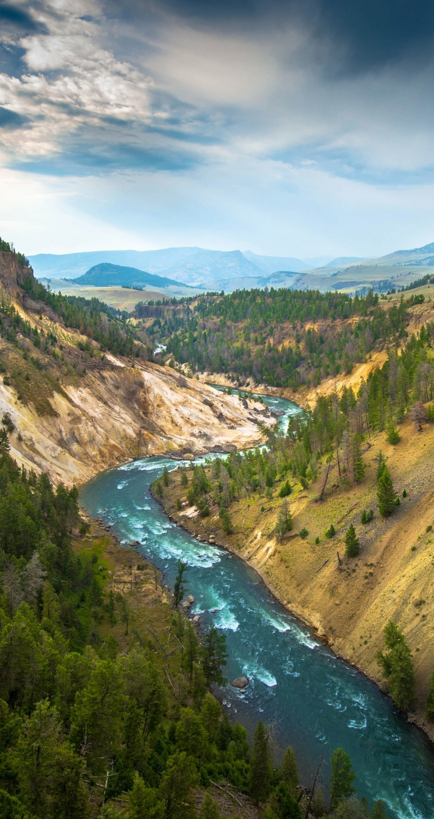 The River, Grand Canyon of Yellowstone National Park, USA Wallpaper for Apple iPhone 6 / 6s