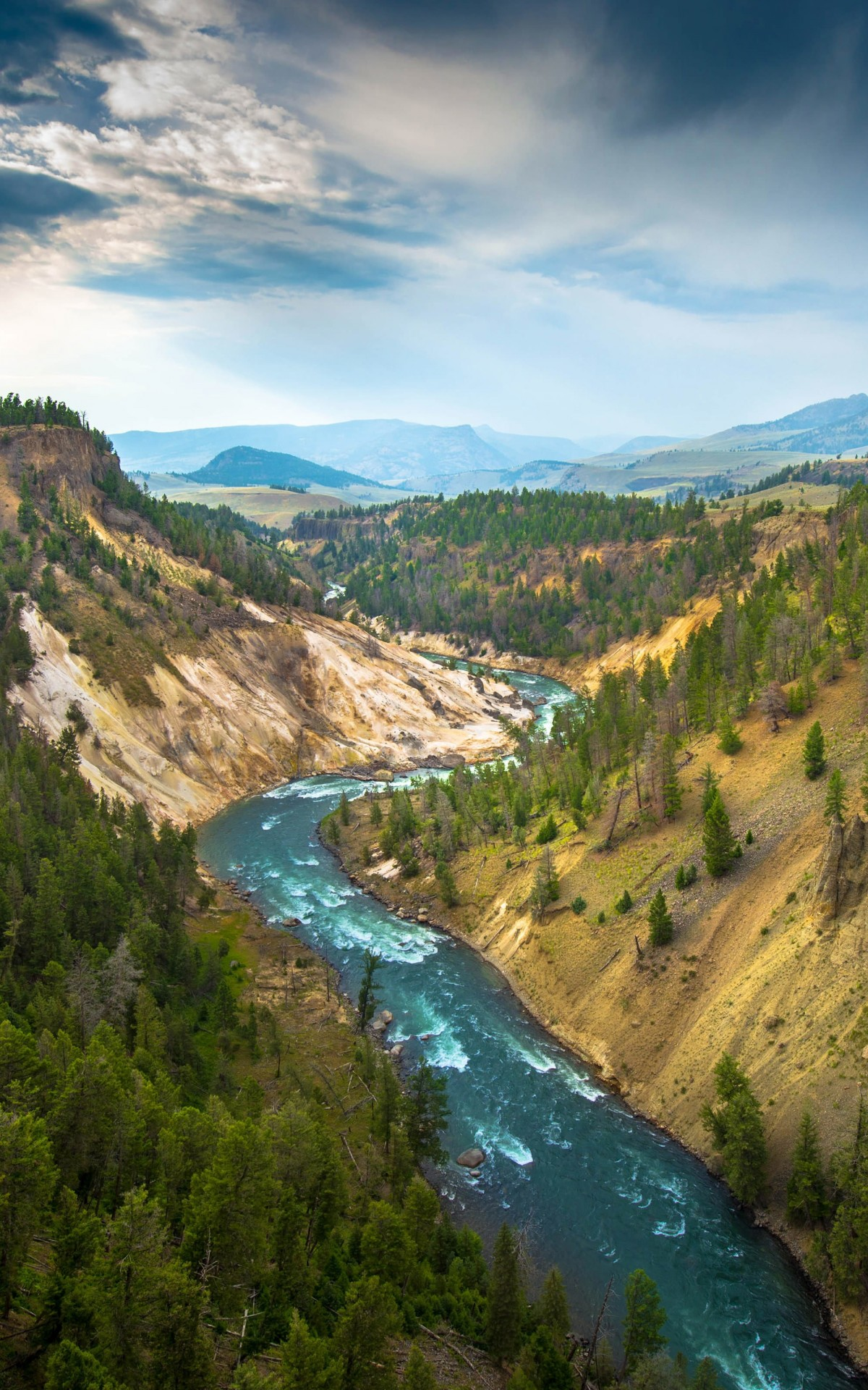 The River, Grand Canyon of Yellowstone National Park, USA Wallpaper for Amazon Kindle Fire HDX