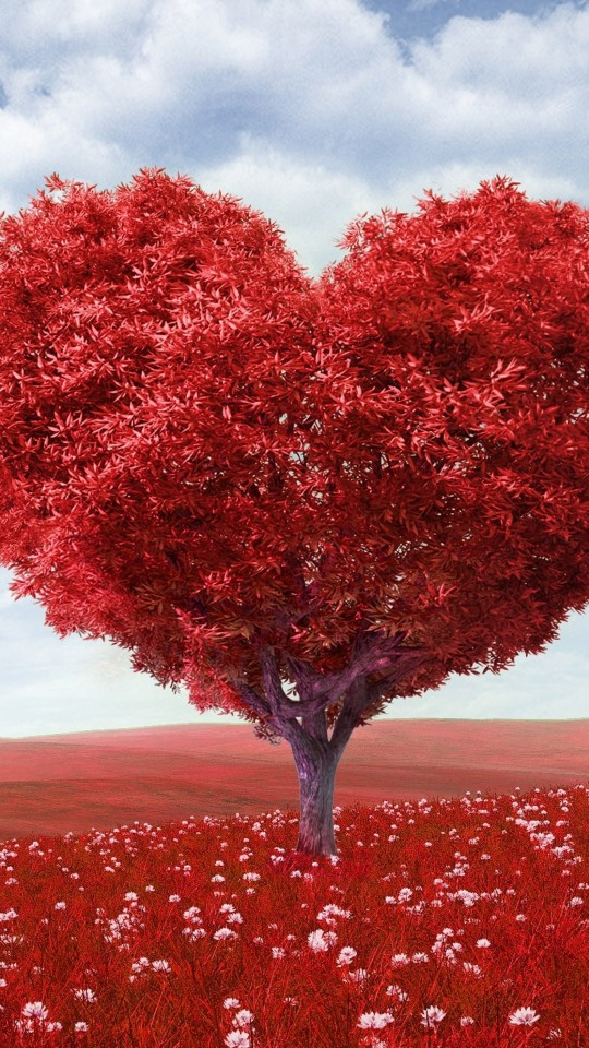The Tree Of Love Wallpaper for SAMSUNG Galaxy S4 Mini