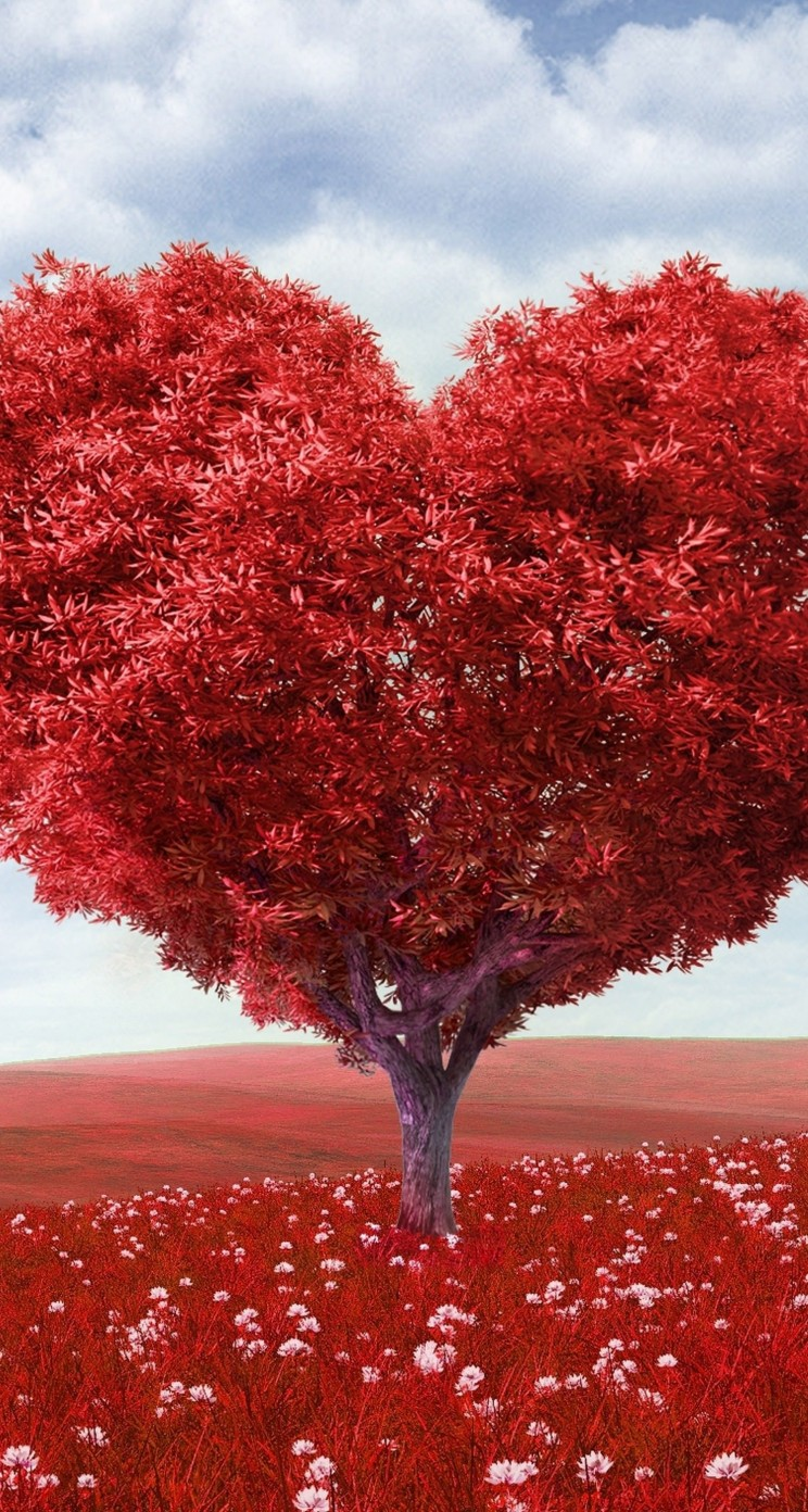 The Tree Of Love Wallpaper for Apple iPhone 5 / 5s