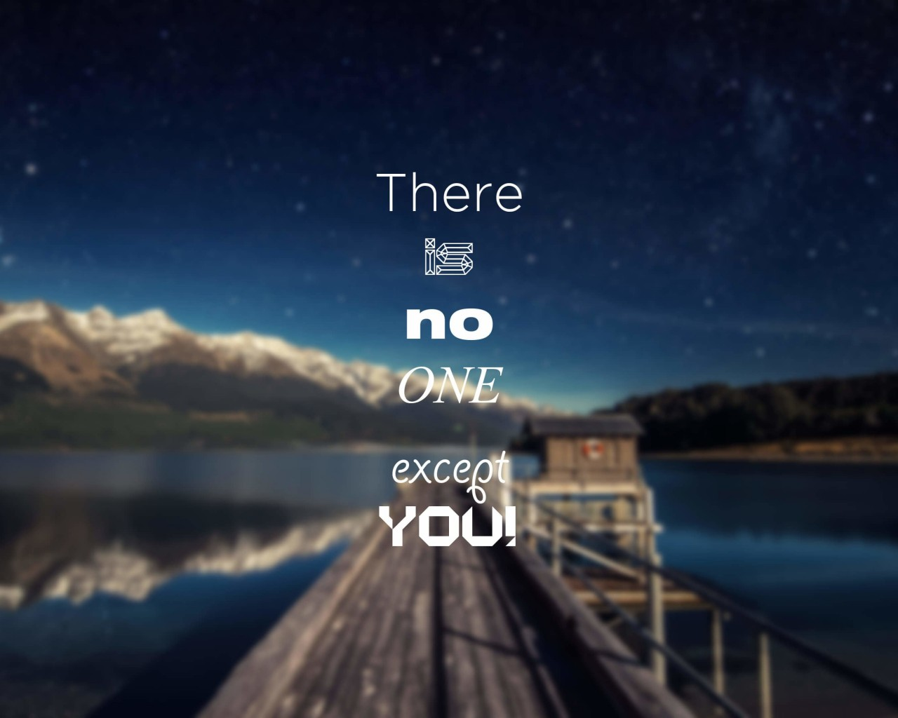 There Is No One Except You Wallpaper for Desktop 1280x1024