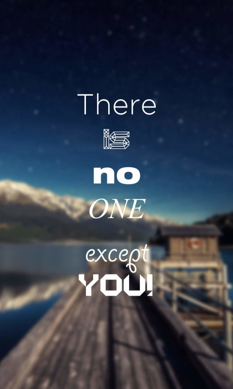 There Is No One Except You Wallpaper for HTC Desire HD