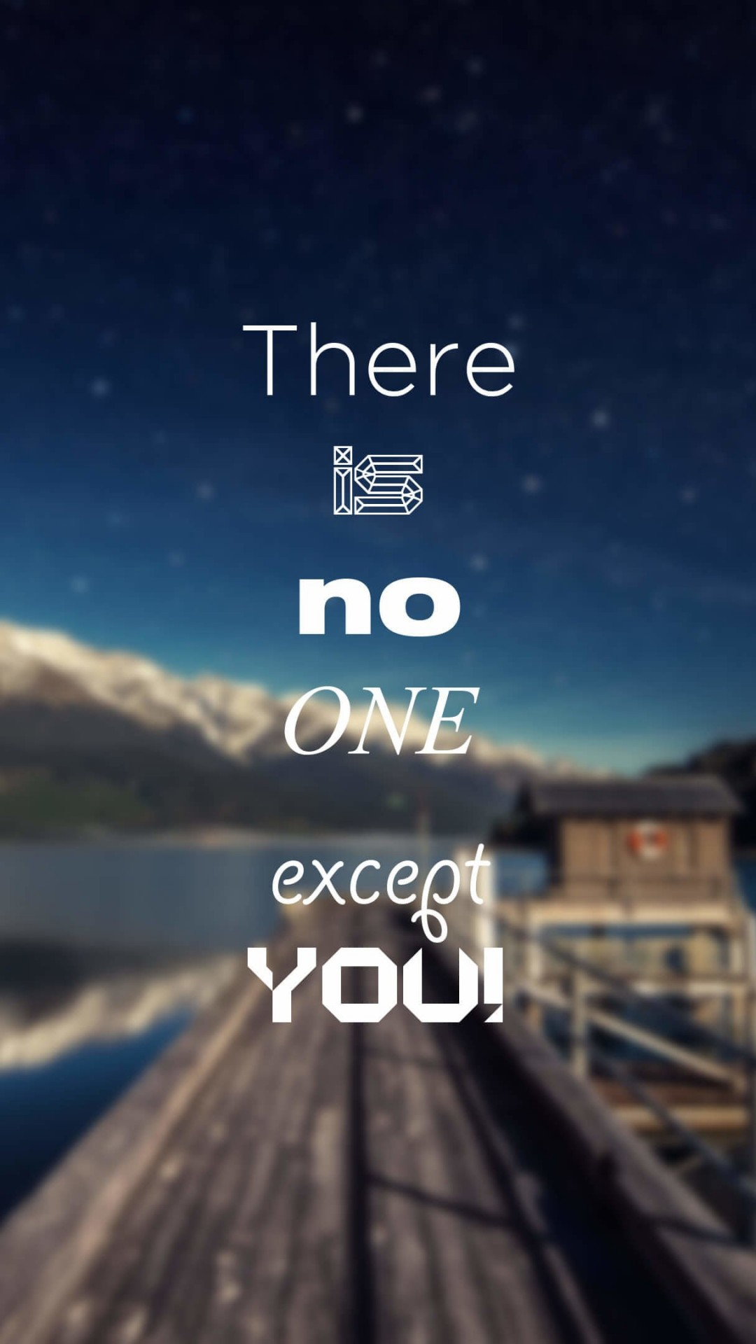 There Is No One Except You Wallpaper for HTC One