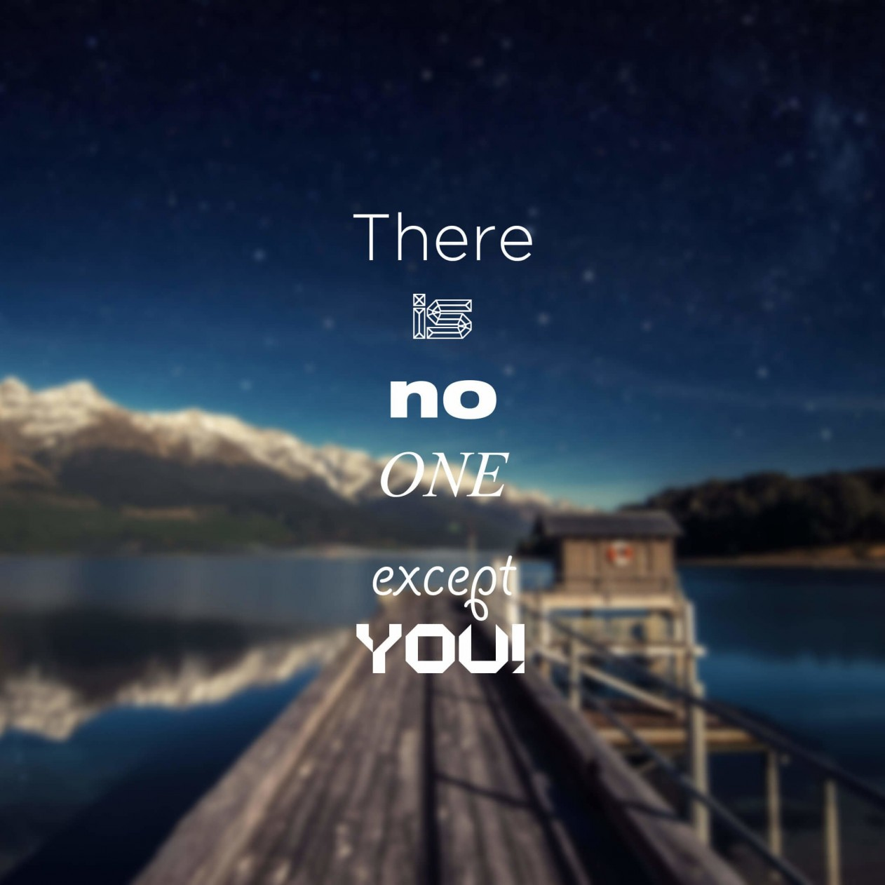 There Is No One Except You Wallpaper for Apple iPad mini