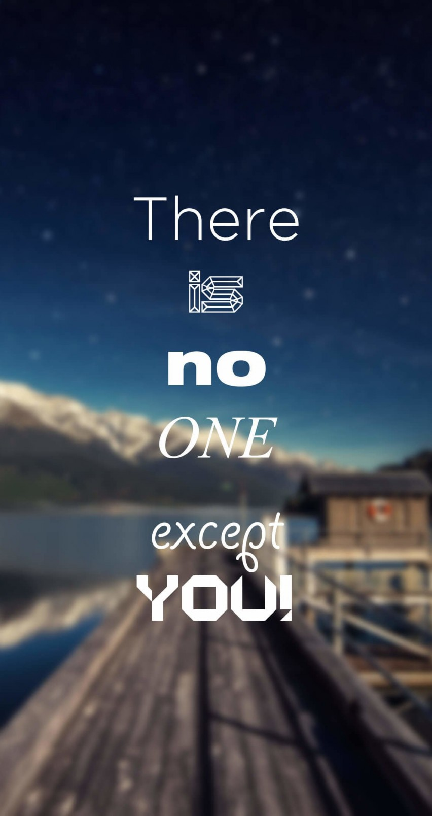 There Is No One Except You Wallpaper for Apple iPhone 6 / 6s