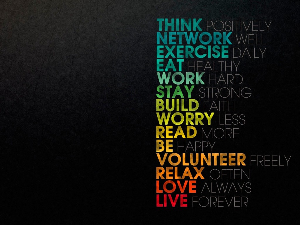 Think Positively Wallpaper for Desktop 1024x768