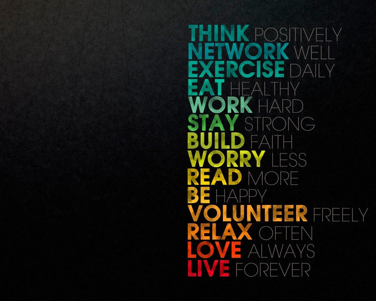 Think Positively Wallpaper for Desktop 1280x1024