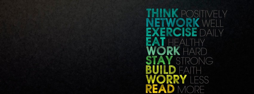 Think Positively Wallpaper for Social Media Facebook Cover