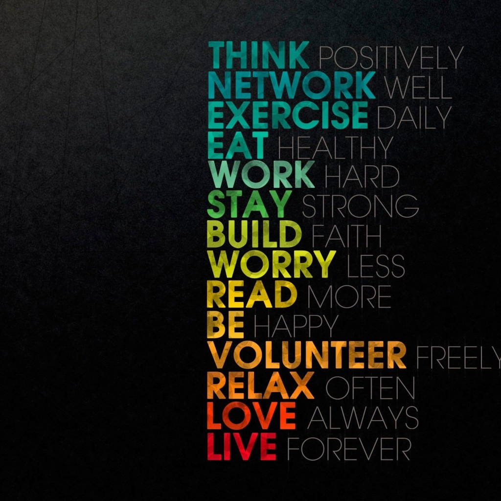 Think Positively Wallpaper for Apple iPad 2